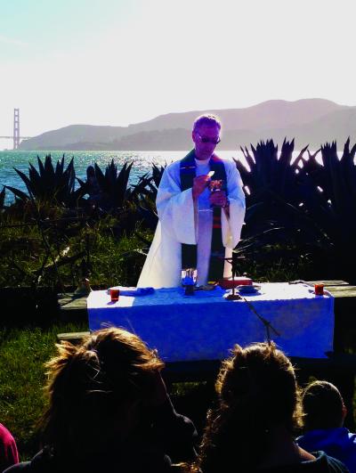 Fr. Matt Link celebrating Mass.