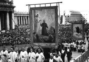 Banner at Canonization of St. Gaspar del Bufalo
