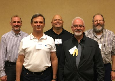 2019 Provincial Council Elect Front: Fr. Garry Richmeier, Fr. David Matz, Back: Fr. Timothy Armbruster, Br. Daryl Charron, Fr. Keith Branson