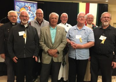 2019 Jubilarians Front: David Matz, Tom Welk, Mike Goode, Bill Hubmann, Back: Richard Colbert, Jim Betzen, Timothy Coday, John Wolf