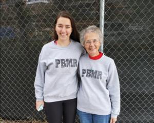 Leah Landry with Sr. Donna Liette at PBMR