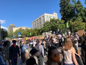 Image from a Black Lives Matter Protest in Berkeley, California